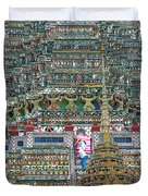 Steep Stairs Lead To Higher Level Of Temple Of The Dawn-wat Arun In Bangkok-thailand Duvet Cover