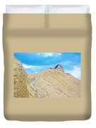 Steep Trail To Manly Beacon From Golden Canyon In Death Valley National Park-california  Duvet Cover