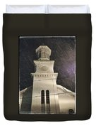 Steeple In A Snowstorm Duvet Cover