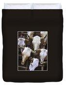 Steer Skulls  - New Mexico Duvet Cover