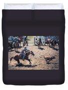 Steer Tripping Duvet Cover by Daniel Hagerman
