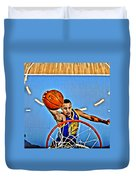 Steph Curry Duvet Cover by Florian Rodarte
