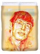 Stephen Hawking Portrait Duvet Cover