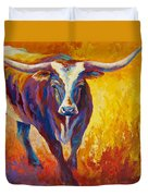 Stepping Out - Longhorn Duvet Cover