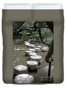 Stepping Stone Kyoto Japan Duvet Cover