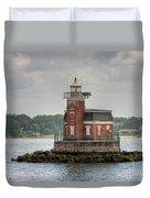 Stepping Stones Lighthouse I Duvet Cover