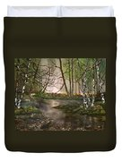 Stepping Stones On Cannock Chase Duvet Cover