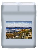 Steps To The Sea Abstract Duvet Cover by Barbara Snyder
