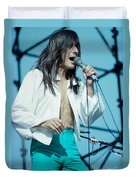 Steve Perry Of Journey At Day On The Green - July 1980 Duvet Cover