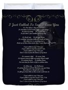 Stevie Wonder Gold Scrolled Called To Say I Love You Duvet Cover