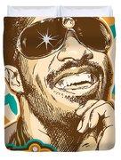Stevie Wonder Pop Art Duvet Cover