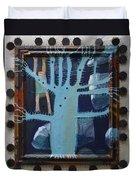 Sticker Tree - Framed Duvet Cover