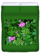 Sticky Geranium Duvet Cover