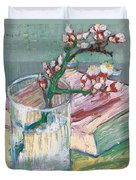 Still Life    A Flowering Almond Branch Duvet Cover by Vincent Van Gogh