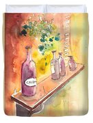 Still Life In Chianti In Italy Duvet Cover by Miki De Goodaboom
