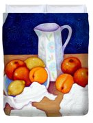Still Life In Honor Of Cezanne   Duvet Cover