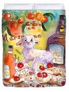 Still Life In Taormina Duvet Cover