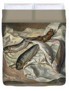Still Life Of Fish, 1928 Duvet Cover