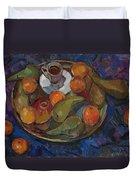 Still Life On A Tray Duvet Cover by Juliya Zhukova