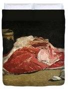 Still Life The Joint Of Meat Duvet Cover