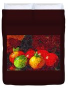 Still Life Tomatoes Fruits And Vegetables Duvet Cover