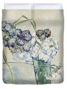 Still Life Vase Of Carnations Duvet Cover by Vincent van Gogh