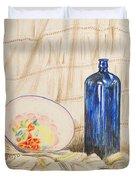 Still-life With Blue Bottle Duvet Cover