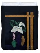 Still Life With Calla Lilies Duvet Cover
