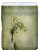 Still Life With Dill And A Cucumber Duvet Cover by Priska Wettstein