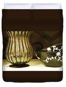 Still Life With Golden Vase Duvet Cover