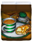 Still Life With Green Touring Bike Duvet Cover by Mark Jones