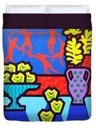 Still Life With Matisse Duvet Cover by John  Nolan
