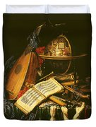 Still Life With Musical Instruments Oil On Canvas Duvet Cover