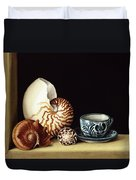 Still Life With Nautilus Duvet Cover by Jenny Barron