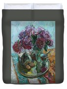 Still Life With Peonies Duvet Cover