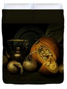 Still Life With Pumpkin And Onions Duvet Cover