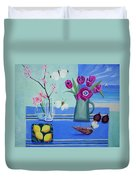 Still Life With Sea View Sold Duvet Cover