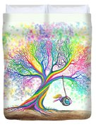 Still More Rainbow Tree Dreams Duvet Cover by Nick Gustafson