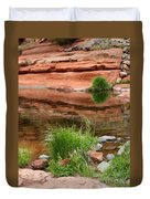 Still Waters At Slide Rock Duvet Cover