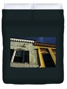 Stitched Buildings Duvet Cover