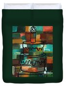 Stl250 Birthday Cake Earth Tones Abstract Duvet Cover