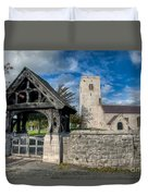 St.marcellas Entrance Duvet Cover by Adrian Evans
