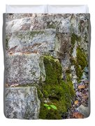 Stone And Moss Duvet Cover