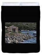 Roman Port Of Sa Nitja In Minorca - Stone And Sea Duvet Cover