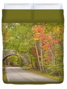 Stone Arch Bridge In Acadia National Park Duvet Cover