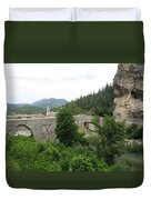 Stone Arch Bridge Over River Verdon Duvet Cover