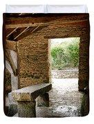 Stone Bench Duvet Cover