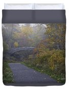 Stone Bridge In Autumn 3 Duvet Cover