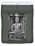 Stone Buddha Duvet Cover by Adam Romanowicz