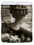 Stone Embellishments Of Jesuits Church Duvet Cover